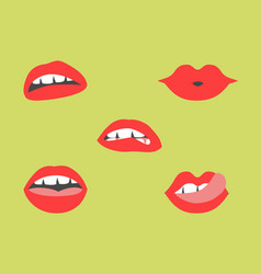 sexy lips vector image