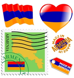 colours of Armenia vector image