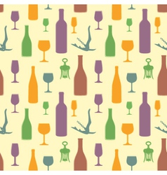 abstract wine seamless pattern vector image