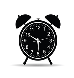 Clock in retro style vector