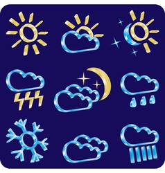 Weather icon set vector