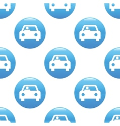 Car sign pattern vector