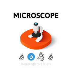Microscope icon in different style vector