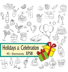Holidays and celebration vector