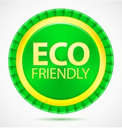Eco friendly green label vector