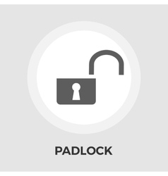 Padlock flat icon vector image