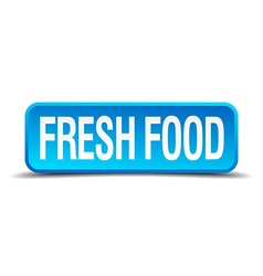 Fresh food blue 3d realistic square isolated vector