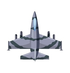 Military airplane icon cartoon style vector