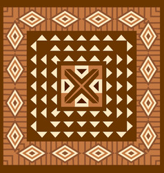 african geometric background vector image