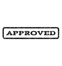 Approved watermark stamp vector