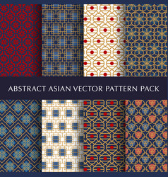 asian abstract pattern pack vector image vector image