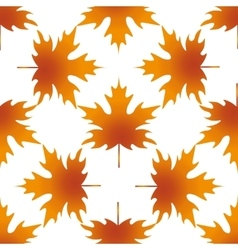 Autumn leaf maple seamless pattern vector image vector image