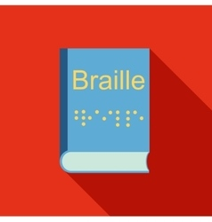 Blindness Braille writing system icon flat style vector image