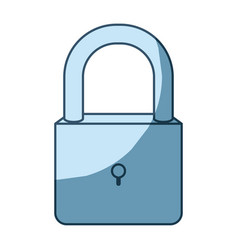 Blue shading silhouette of padlock icon vector