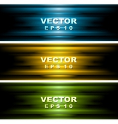 Bright glowing banners vector image