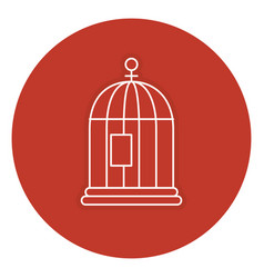 cage bird isolated icon vector image