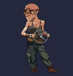 Cartoon character postapocalypse man vector