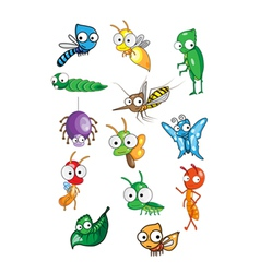 Collection of insect vector image vector image
