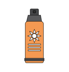 Color image sun block spray bottle vector