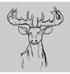 Deer Head Animal Symbol vector image