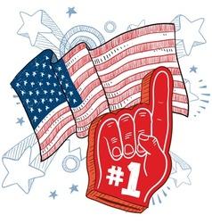 doodle americana foam hand vector image vector image