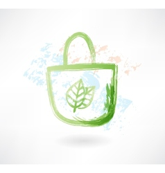 eco bag grunge icon vector image vector image