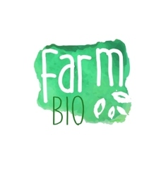 Farm Bio Fresh Products Promo Sign vector image vector image