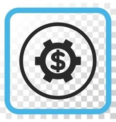 Financial Settings Icon In a Frame vector image