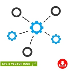 Gears relations eps icon vector