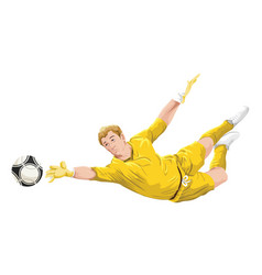 Goalkeeper in action vector