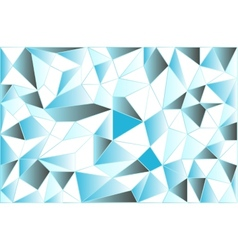 Icy low poly polygonal triangular icy abstract vector image