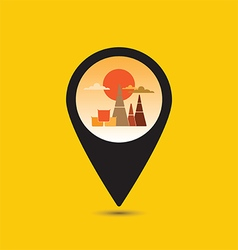 Map pointer Thailand temple icon vector image vector image