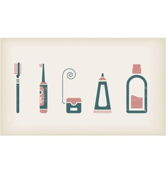 Mouth and teeth care icons vector image vector image