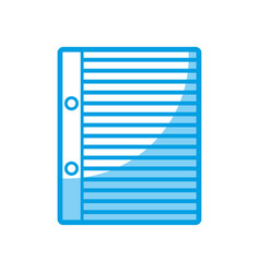 Notebook paper page icon vector