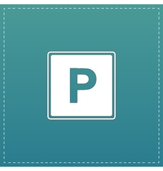 Parking flat icon vector image