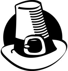 Pilgrim hat vector image vector image