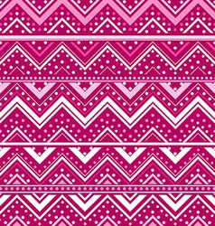 Pink background with zig zag lines and dots vector image vector image