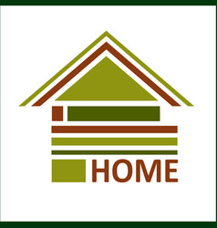 Real estate symbols - roofs of houses and vector