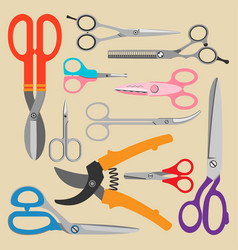 scissors icons set vector image