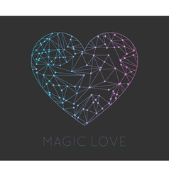 Set of heart geometric color hipster shapes vector