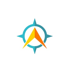 star navigation arrow media logo vector image