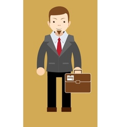 Successful businessman shows that everything is OK vector image vector image