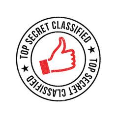 Top secret classified rubber stamp vector
