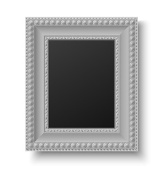 Vintage picture frame for text or picture vector