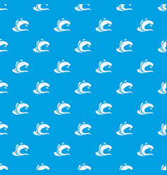 Water wave splash pattern seamless blue vector