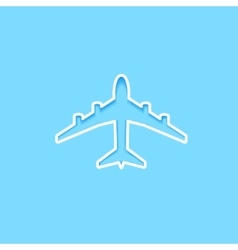 White paper plane icon vector image vector image