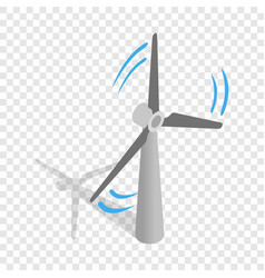 windmill for electric power production isometric vector image