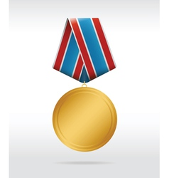 Medal round vector
