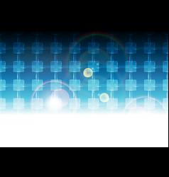 blue vibrant tech background pattern vector image