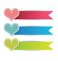 Heart button website vector